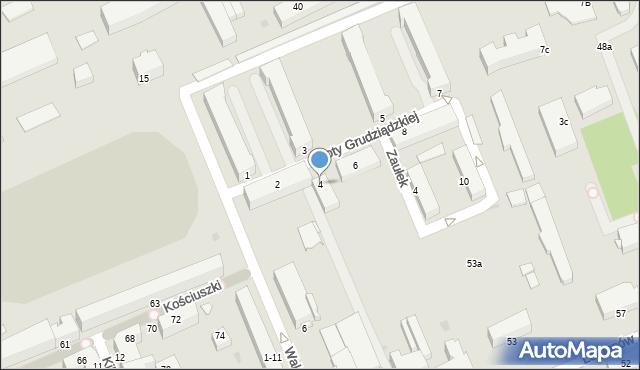 Grudziądz, Roty Grudziądzkiej, 4, mapa Grudziądza