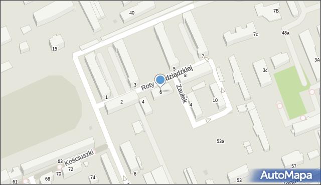 Grudziądz, Roty Grudziądzkiej, 6, mapa Grudziądza