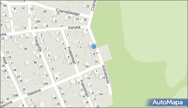 Jaworzno, Robotnicza, 8, mapa Jaworzno