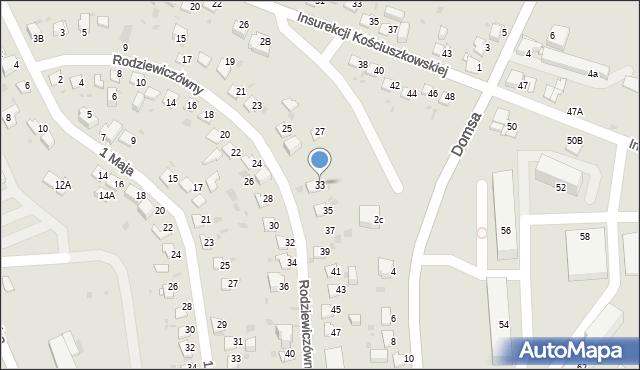 Jaworzno, Rodziewiczówny Marii, 33, mapa Jaworzno