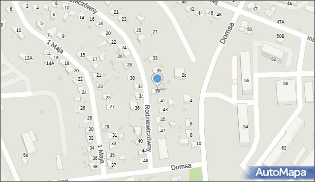 Jaworzno, Rodziewiczówny Marii, 39, mapa Jaworzno