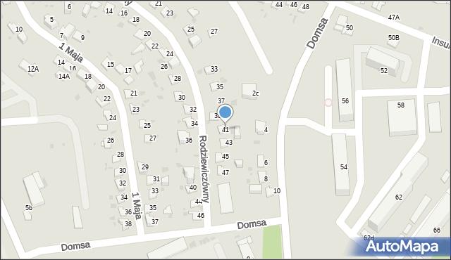 Jaworzno, Rodziewiczówny Marii, 41, mapa Jaworzno