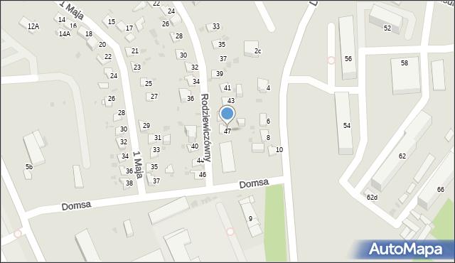 Jaworzno, Rodziewiczówny Marii, 47, mapa Jaworzno