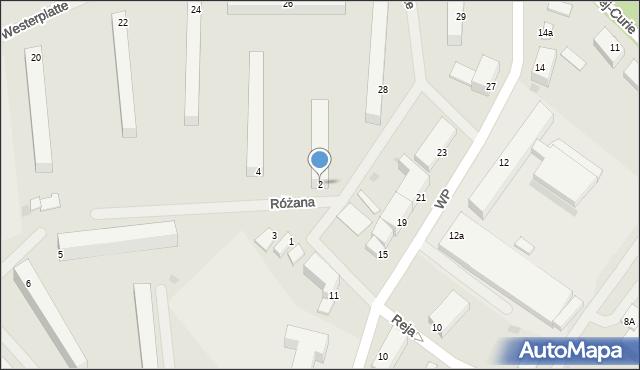 Kętrzyn, Różana, 2, mapa Kętrzyn