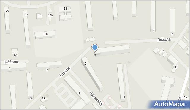Kętrzyn, Różana, 5, mapa Kętrzyn