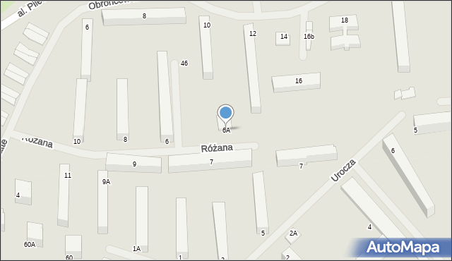 Kętrzyn, Różana, 6A, mapa Kętrzyn