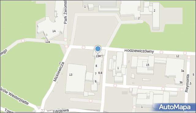 Kołobrzeg, Rodziewiczówny Marii, 13A, mapa Kołobrzegu