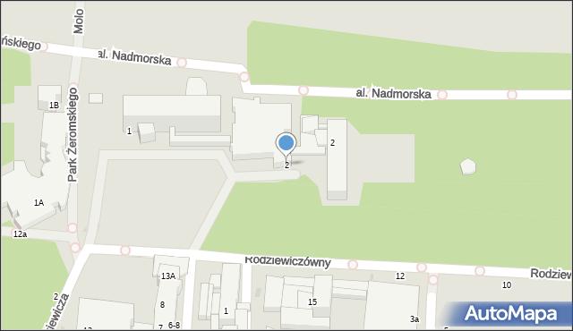 Kołobrzeg, Rodziewiczówny Marii, 2, mapa Kołobrzegu
