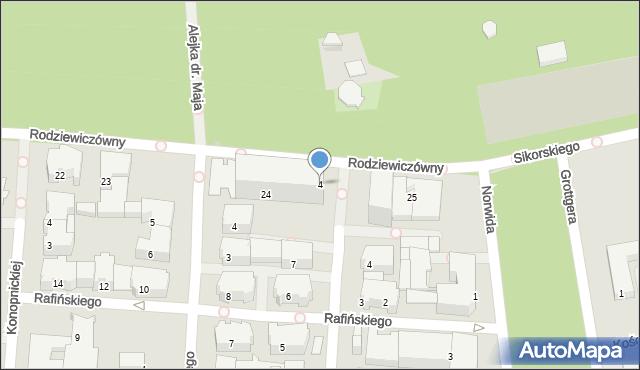 Kołobrzeg, Rodziewiczówny Marii, 4, mapa Kołobrzegu