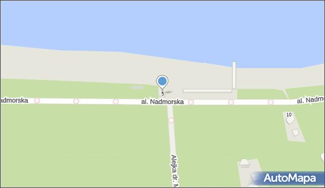 Kołobrzeg, Rodziewiczówny Marii, 5, mapa Kołobrzegu
