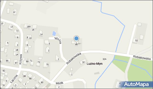 Luzino, Robakowska, 49, mapa Luzino