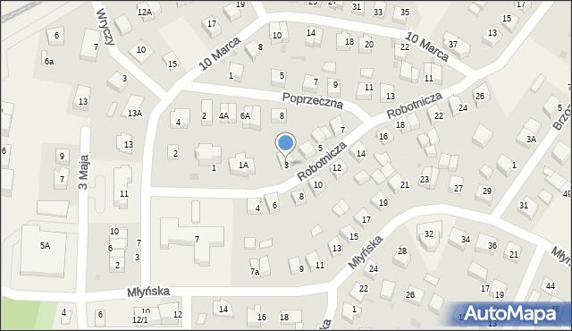 Luzino, Robotnicza, 3, mapa Luzino
