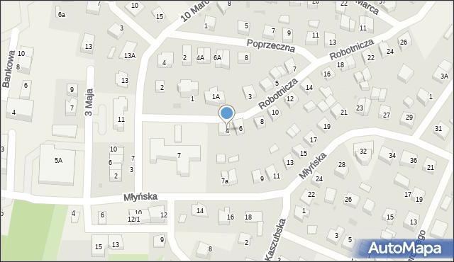 Luzino, Robotnicza, 4, mapa Luzino