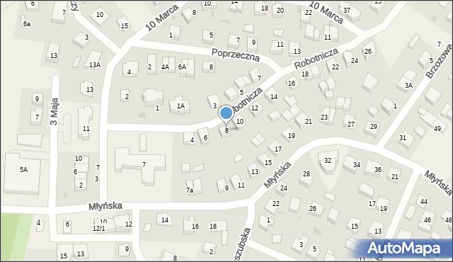 Luzino, Robotnicza, 8, mapa Luzino