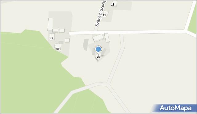 Milwino, Rolnicza, 49, mapa Milwino