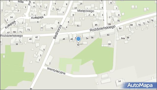 Piekary Śląskie, Roździeńskiego Walentego, 52, mapa Piekary Śląskie