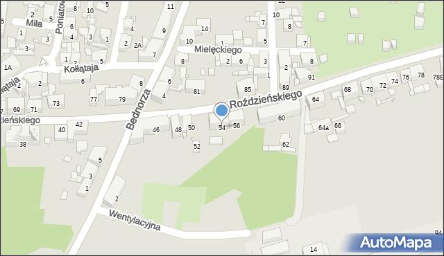 Piekary Śląskie, Roździeńskiego Walentego, 54, mapa Piekary Śląskie