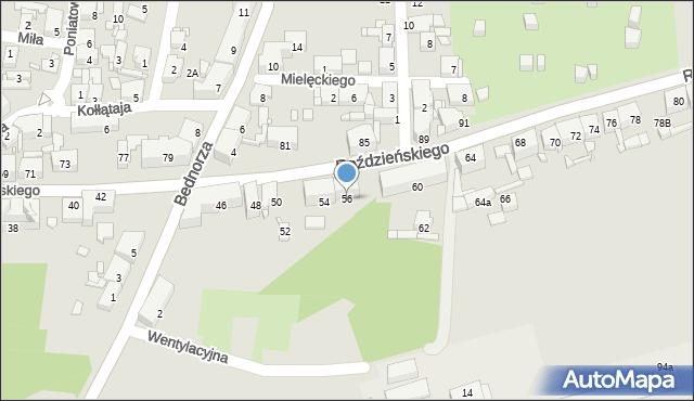 Piekary Śląskie, Roździeńskiego Walentego, 56, mapa Piekary Śląskie