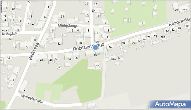 Piekary Śląskie, Roździeńskiego Walentego, 60, mapa Piekary Śląskie