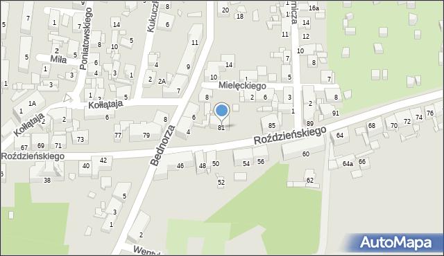 Piekary Śląskie, Roździeńskiego Walentego, 81, mapa Piekary Śląskie