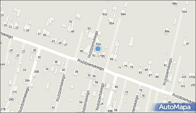 Poręba, Roździeńskiego Walentego, 63, mapa Poręba