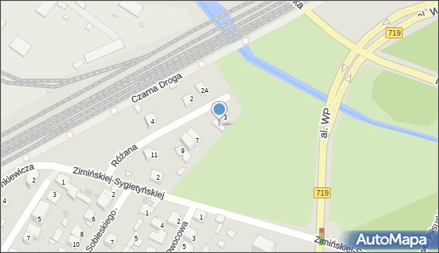 Pruszków, Różana, 5, mapa Pruszków