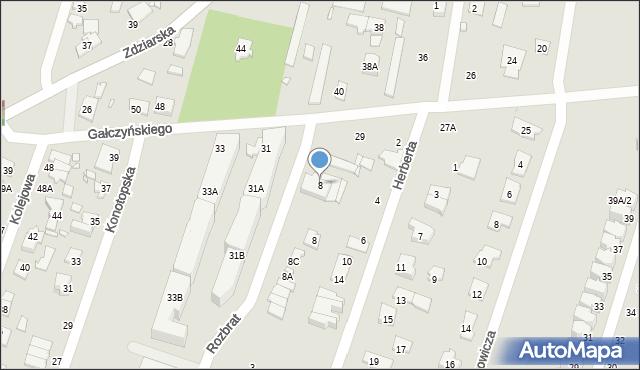 Pruszków, Rozbrat, 8, mapa Pruszków