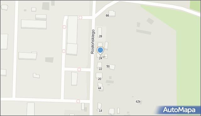 Przemyśl, Rosłońskiego Romualda, 24, mapa Przemyśla