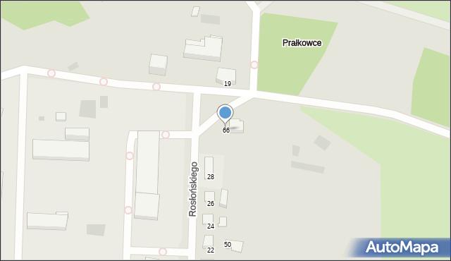 Przemyśl, Rosłońskiego Romualda, 66, mapa Przemyśla