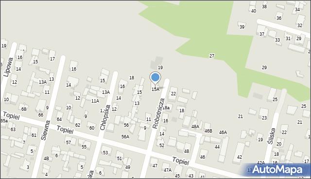 Radom, Robotnicza, 15A, mapa Radomia