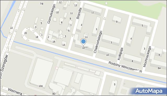Radom, Rodziny Winczewskich, 12, mapa Radomia