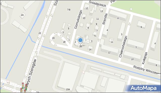 Radom, Rodziny Winczewskich, 16, mapa Radomia