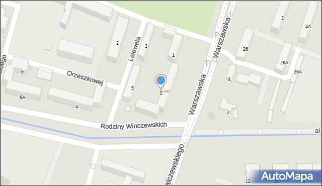 Radom, Rodziny Winczewskich, 2, mapa Radomia
