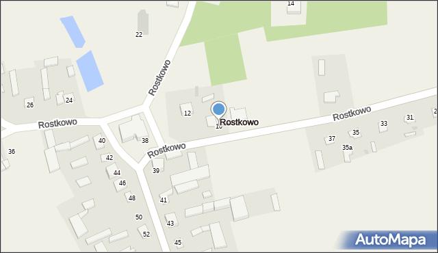 Rostkowo, Rostkowo, 10, mapa Rostkowo