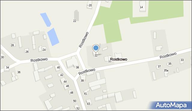 Rostkowo, Rostkowo, 12, mapa Rostkowo
