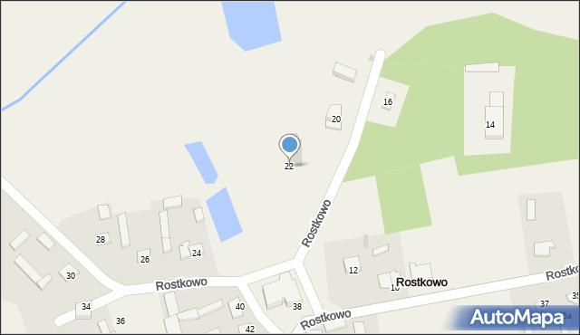 Rostkowo, Rostkowo, 22, mapa Rostkowo