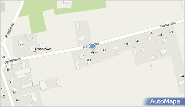 Rostkowo, Rostkowo, 35, mapa Rostkowo