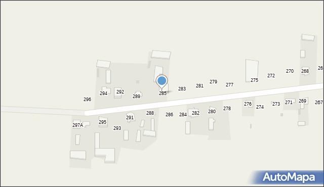 Rożdżałów, Rożdżałów, 285, mapa Rożdżałów