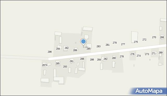 Rożdżałów, Rożdżałów, 287, mapa Rożdżałów