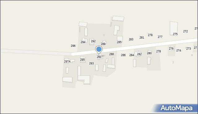 Rożdżałów, Rożdżałów, 291, mapa Rożdżałów