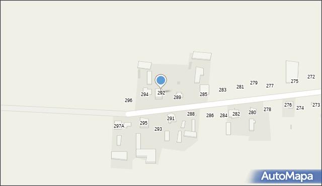 Rożdżałów, Rożdżałów, 292, mapa Rożdżałów