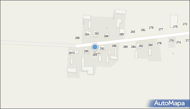 Rożdżałów, Rożdżałów, 293, mapa Rożdżałów