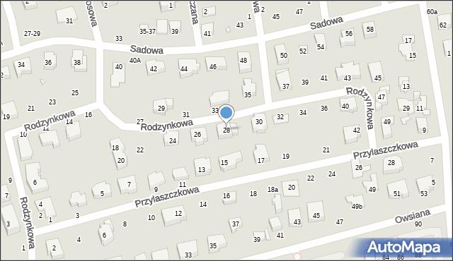Toruń, Rodzynkowa, 28, mapa Torunia