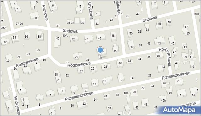 Toruń, Rodzynkowa, 33, mapa Torunia