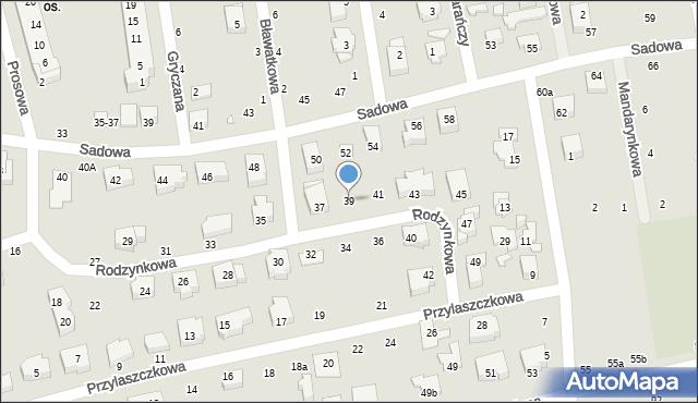 Toruń, Rodzynkowa, 39, mapa Torunia