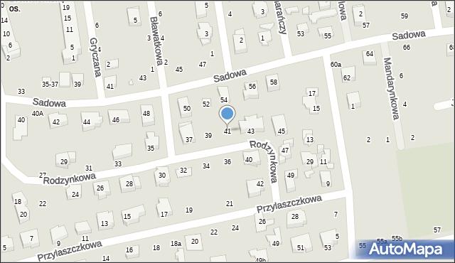 Toruń, Rodzynkowa, 41, mapa Torunia