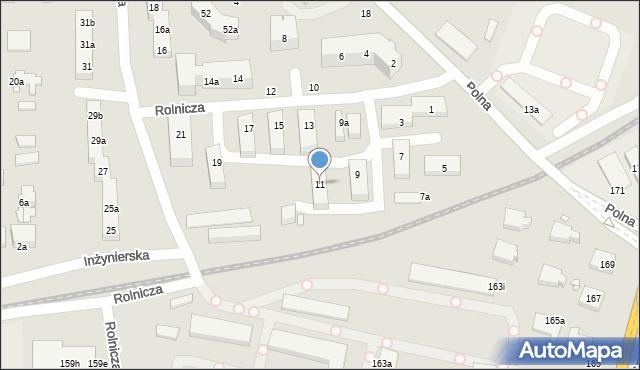 Toruń, Rolnicza, 11, mapa Torunia