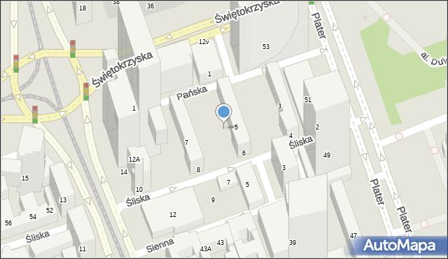 Warszawa, Rondo ONZ, 14p, mapa Warszawy