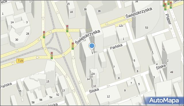 Warszawa, Rondo Organizacji Narodów Zjednoczonych, 1, mapa Warszawy