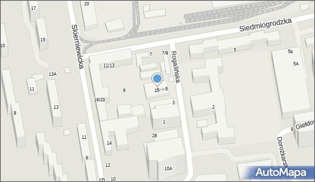 Warszawa, Rogalińska, 15, mapa Warszawy